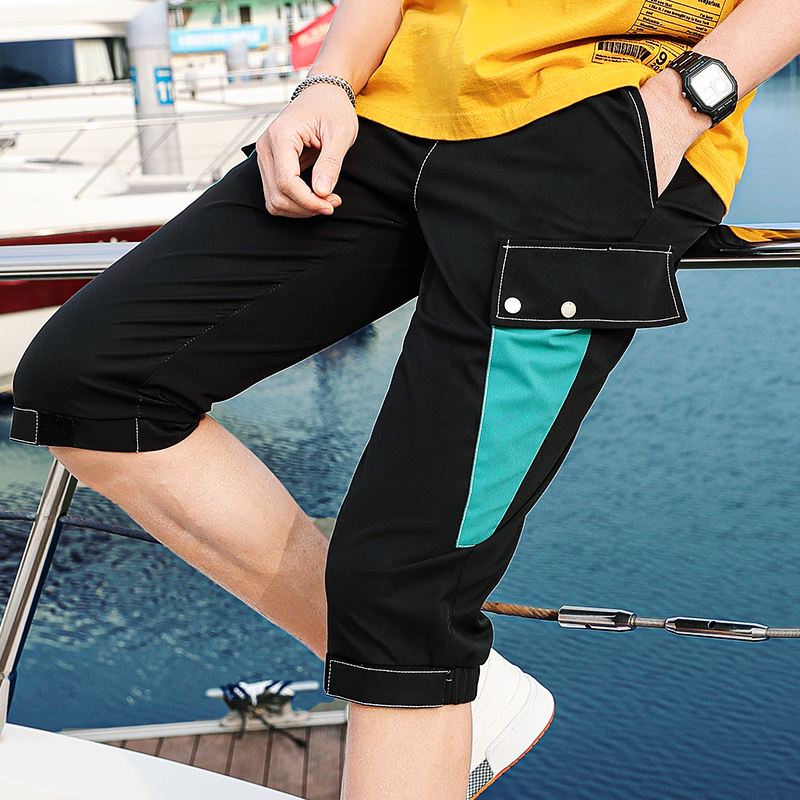 2020 new mens pants middle school students pants mens casual shorts mens summer wear 7-7 pants trend
