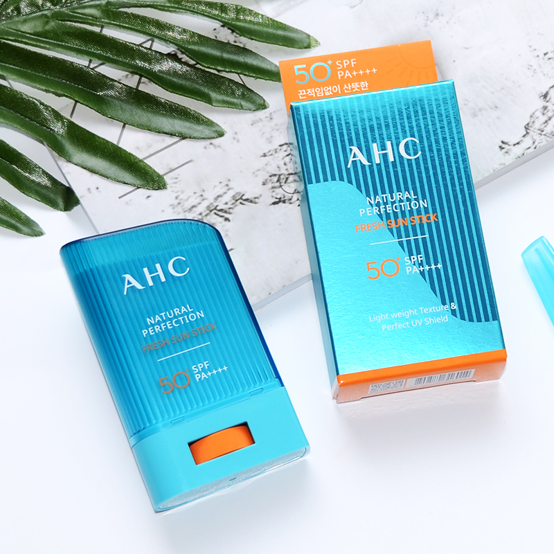 Korean AHC vitamin stick waterproof and sweat proof UV sunscreen spf50 + outdoor whole body