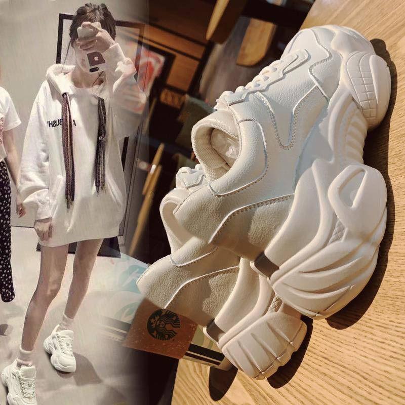 老爹鞋女2019秋季新款跑步韩版学生小白鞋女透气休闲松糕运动鞋潮