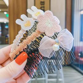 儿童发梳碎发夹子防滑整理发饰韩国小女孩可爱插梳刘海夹女童发卡