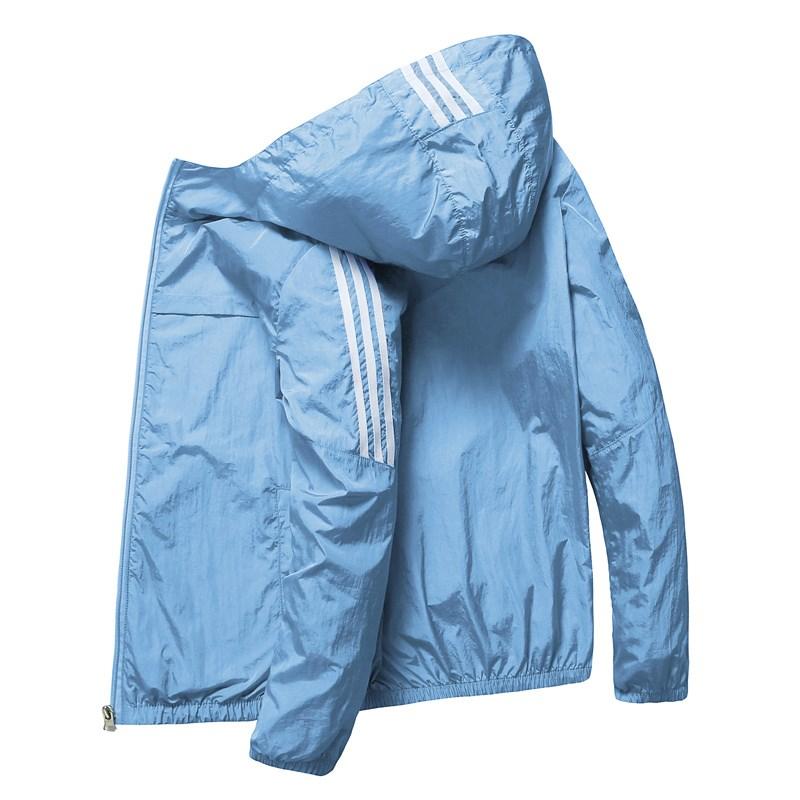 防晒衣服男韩版运动休闲透气衫学生夏季外套潮流薄款夏装超薄夹克