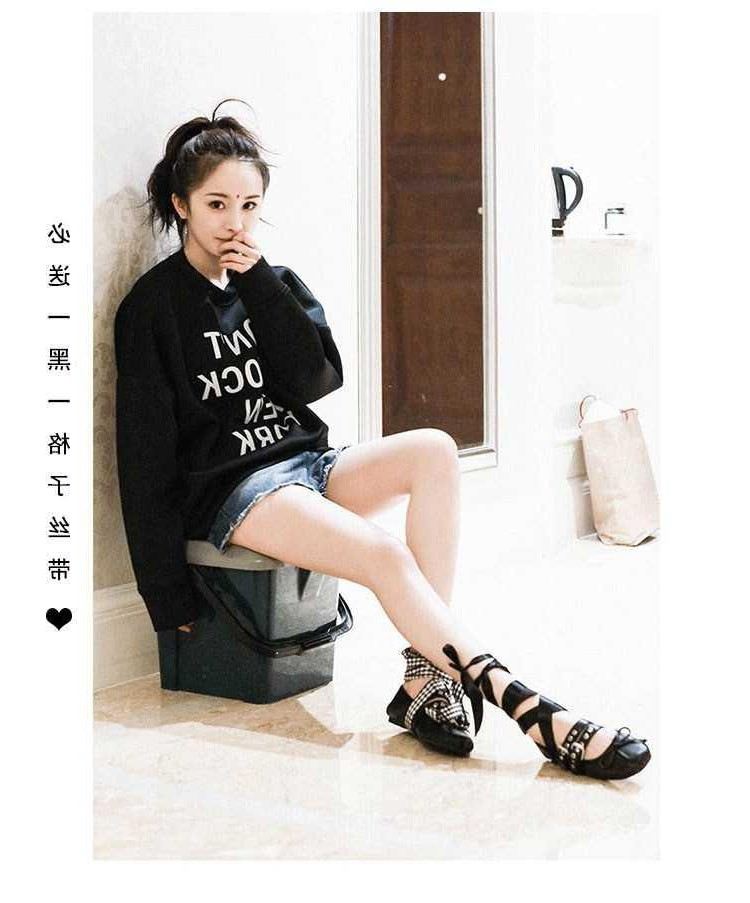 Bow autumn summer dance shoes womens shallow mouth flat strap butterfly ballet single shoes dance round head flat shoes