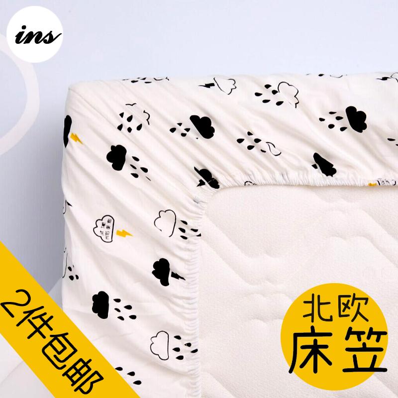 Ins взрыв моделей нордический хлопок кровать для младенца использование статья лист muslin ребенок кровать предприятия детская кроватка крышка можно настроить
