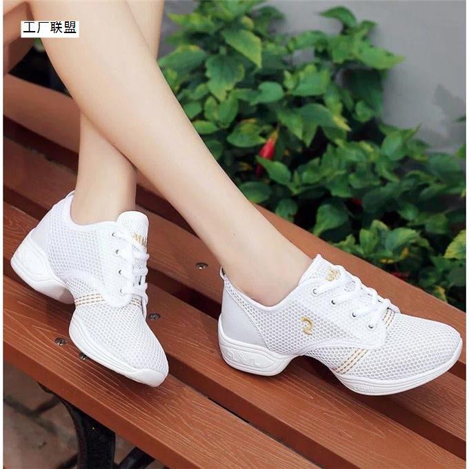 【齐�e】夏季女鞋网面透快手朴敏英李晨同款妈舞鞋子百搭鞋女网鞋