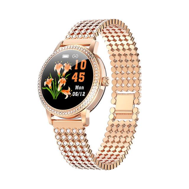 Huangpai round screen smart watch female steel watch heart rate sleep physiological period monitoring waterproof sports swimming Bracelet
