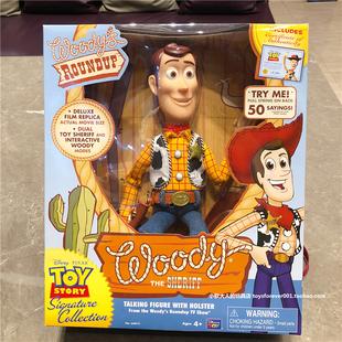 美国迪士尼正版玩具总动员3拉线发声拉环说话声控互动胡迪珍藏版