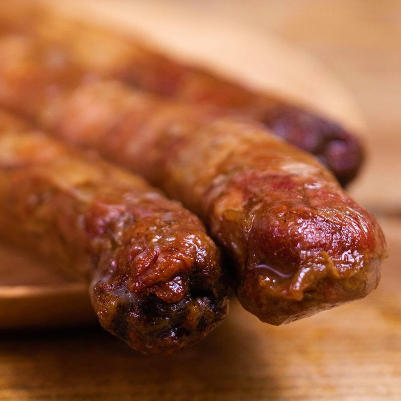 炭烤香肠西双版纳风味烤肠休闲即食小零食纯猪肉