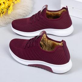 2020冬季老北京布鞋棉鞋女加绒加厚运动鞋保暖二棉鞋防滑妈妈棉靴图片