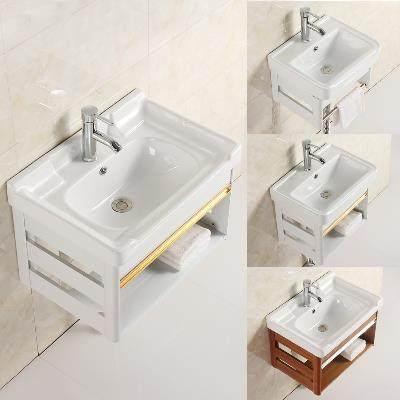 整体厕所洗手盆柜组合家用面盆小户型挂墙式小孩卫生间小型阳台洗