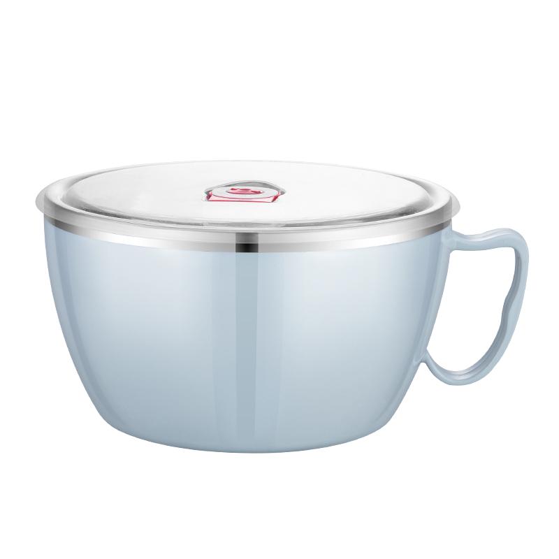 好佳品不锈钢泡面碗带盖单个宿舍学生饭盒上班族便携保温便当盒饭主图