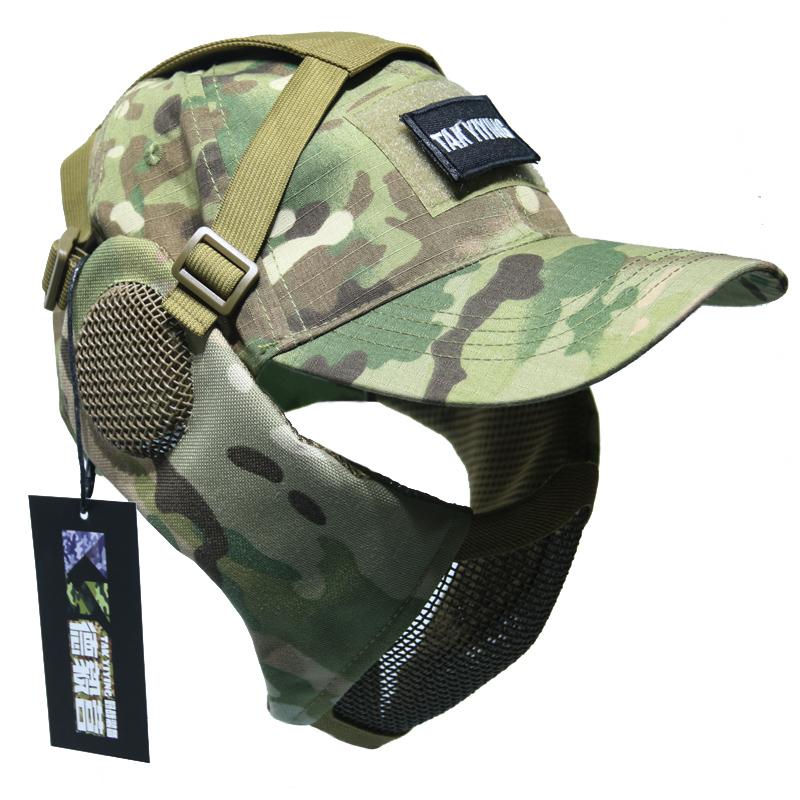 Мораль решительный лагерь тактический провод маска для лица защищать лицо счет один армия фанатов на открытом воздухе реальность CS защищать половина лица воздухопроницаемый
