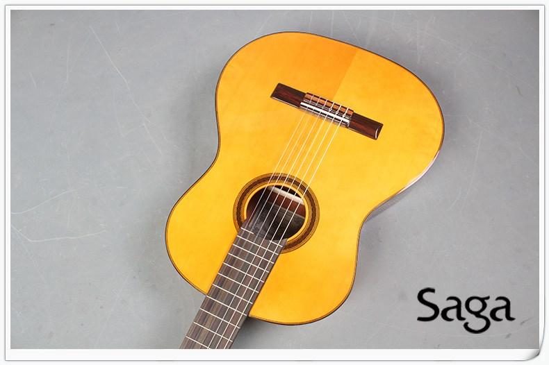正品saga萨伽C460 面单古典吉他 39寸单板吉他jita包邮送礼
