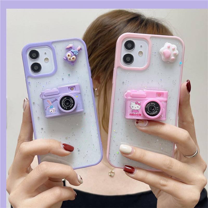 中國代購|中國批發-ibuy99|iphone 7 plus|卡通发光相机12ProMax适用苹果11手机壳iPhoneX/XS/XR创意7/8plus