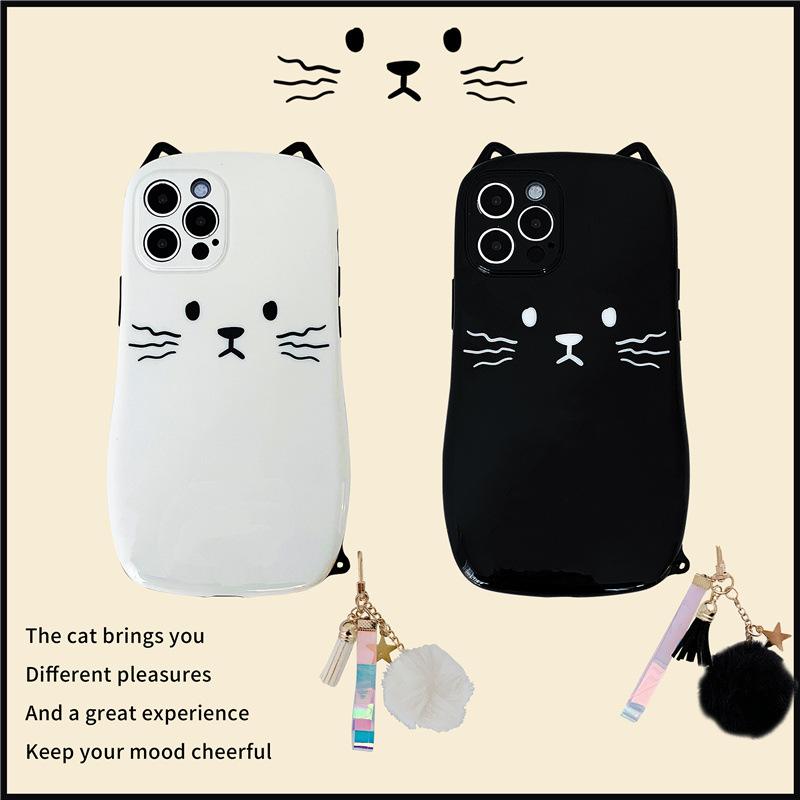 中國代購|中國批發-ibuy99|iphone 7 plus|韩国猫咪吊坠适用12promax苹果x手机壳iphone11/xr新款7个性8plus