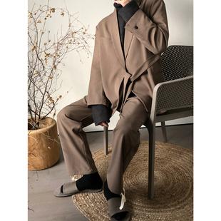 AMG 抽绳西装 裤 19FW 飘带西装 气质时刻在线 小众套装