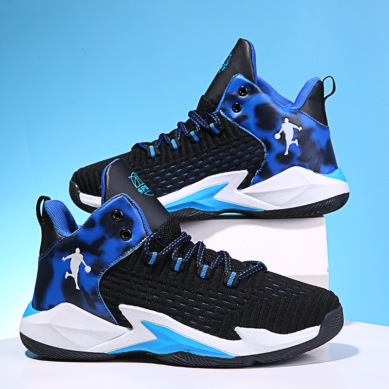 Qiao Tong Dan shoes childrens basketball shoes spring and autumn mesh breathable sports shoes
