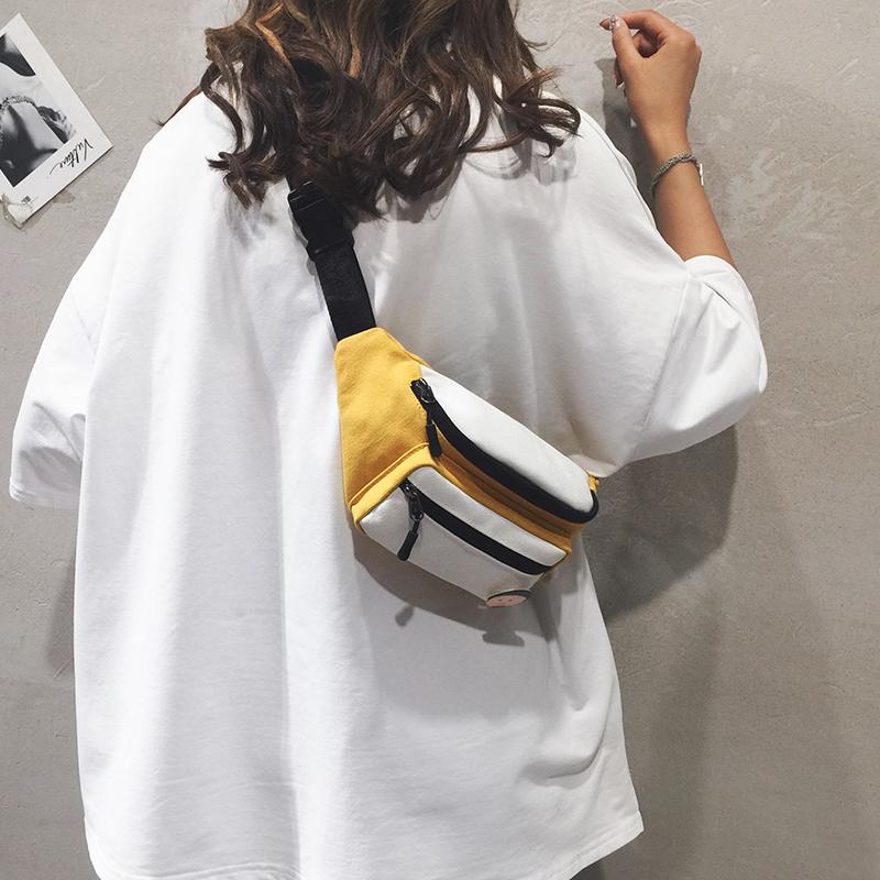 热销85件正品保证运动腰包女2019新款韩版小斜跨包