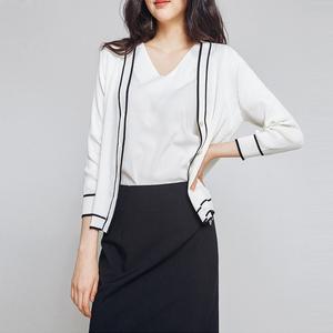冰丝针织衫女开衫夏季2020新款空调薄款长袖外搭上衣短款防晒外套