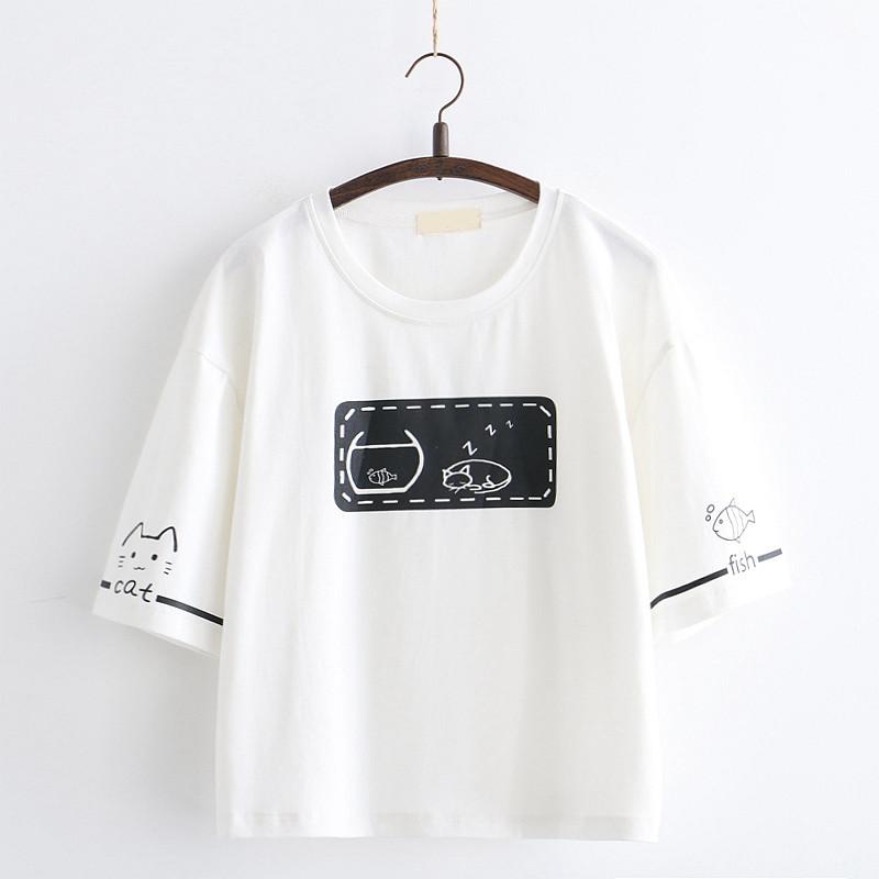 11月19日最新优惠日系森女系少女短袖T恤女中学生软妹部落小个子姐妹闺蜜夏装半袖t