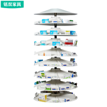 Steel Pharmaceutical tray rotary rack multi-layer medical rack Pharmaceutical Shop Storage Rack Factory Direct Sales