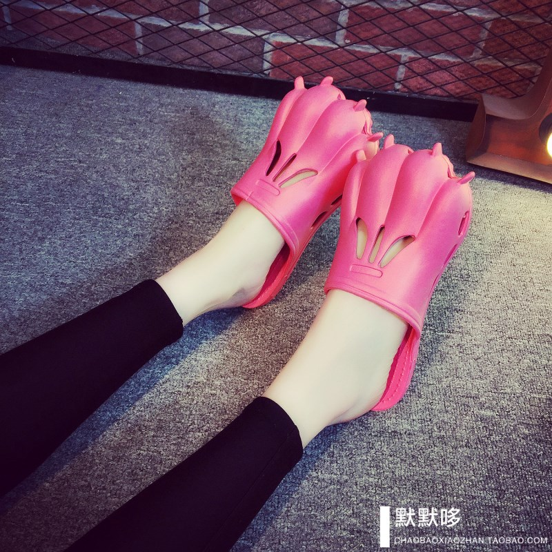 熊掌拖鞋凉创意拖鞋虎爪子创意个性夏季创意男女防滑沙滩鞋情侣鞋