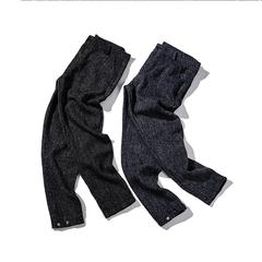 平铺图 秋装纯棉针织收口小脚休闲裤 2012-K008-P65