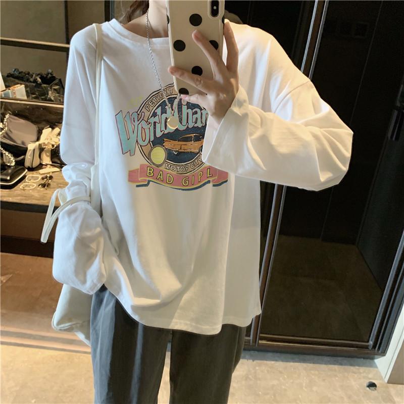 白色长袖t恤2021早春新款潮打底衫值得购买吗