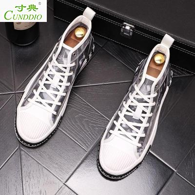 Canvas shoes mens high top printing graffiti trend 20p20 new style breathable inner fashion shoes men G.