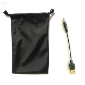 御杰插电手机充电宝两用款充电宝专用转化线及充电宝悬挂袋配件