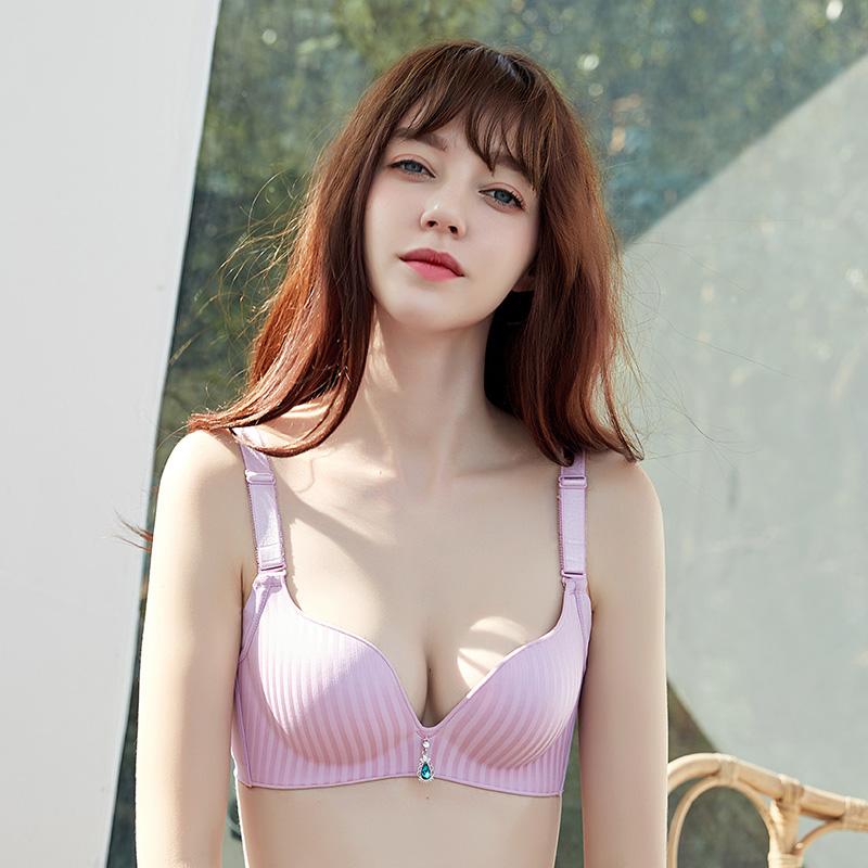 内衣女士无钢圈调整型文胸聚拢小胸性感上托收副乳防下垂秋冬胸罩