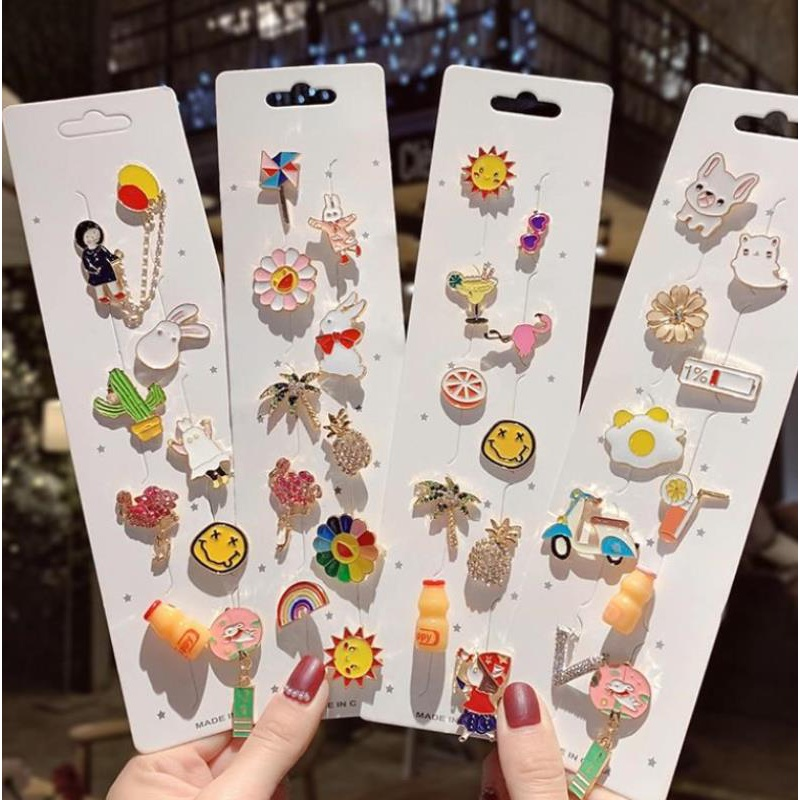 Cartoon Brooch three-dimensional coat shoe buckle creative lovely light proof lovely cufflink decoration gift buckle