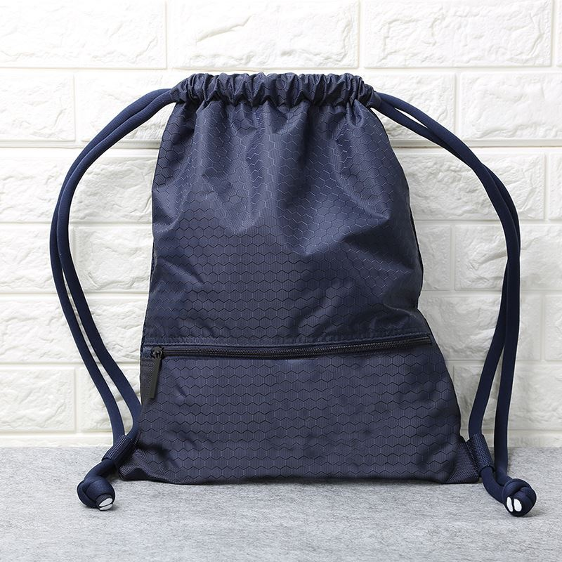 Mens and womens Drawstring Backpack mens and womens simple drawstring bag primary school fashion tourism folding