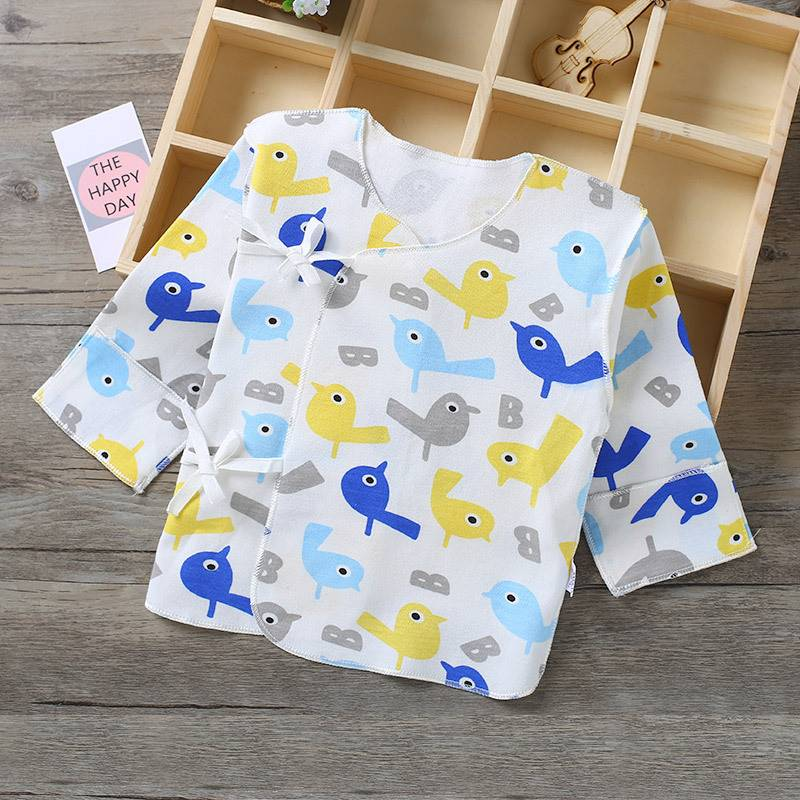New born babys low top half body centenary banquet baby spring and autumn top piece 3 new born clothes half back new
