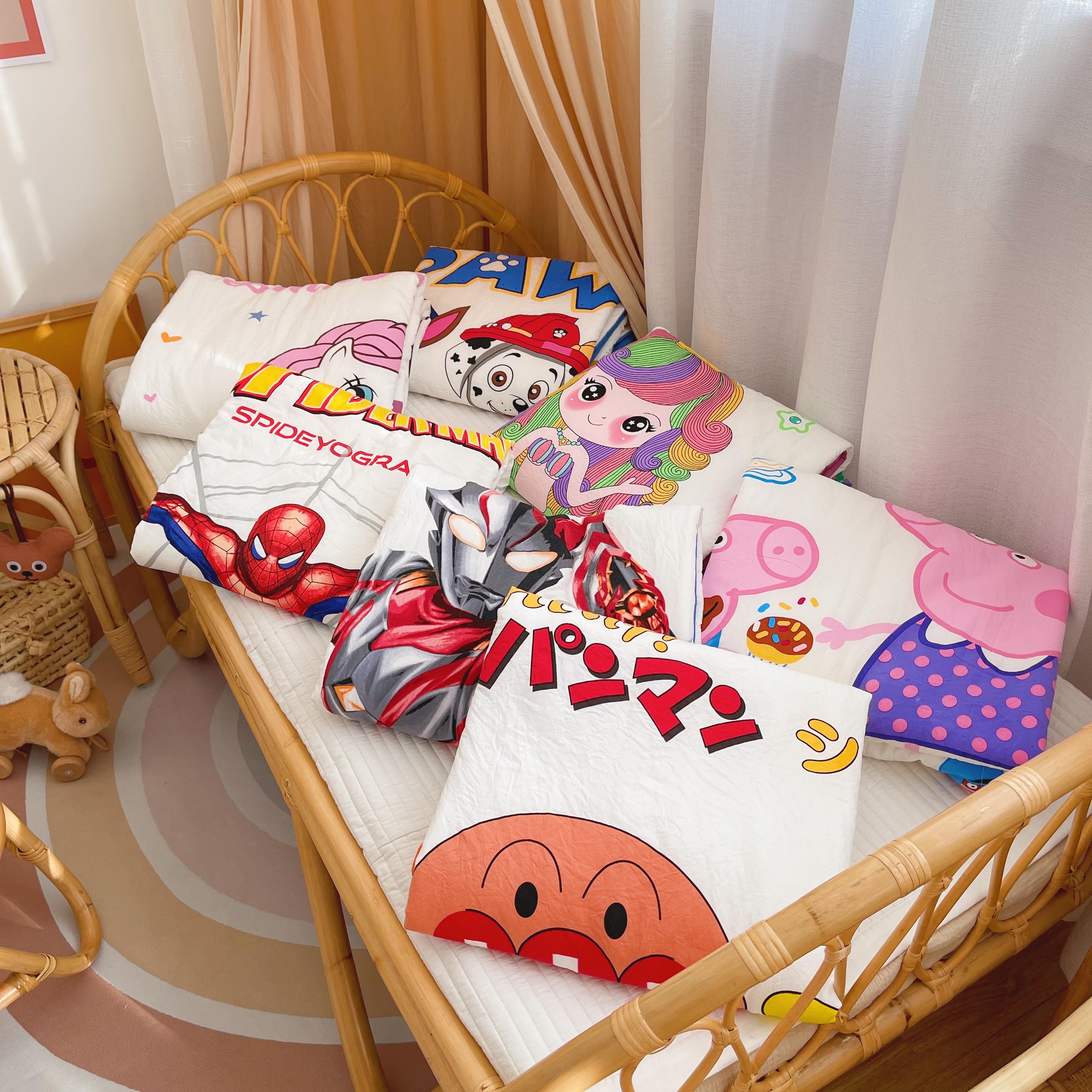 儿童驱蚊被卡通被空调被夏凉被幼儿园午睡小被子可任意机洗