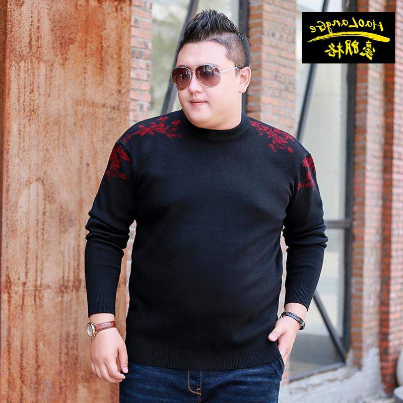 Top grade brand oversize loose mens wear plus plus size sweater fat oversize sweater fat mans hair