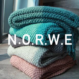 北欧沙发盖毯冬空调毯办公室小毯子午睡毯床搭针织毯毛巾被单人厚