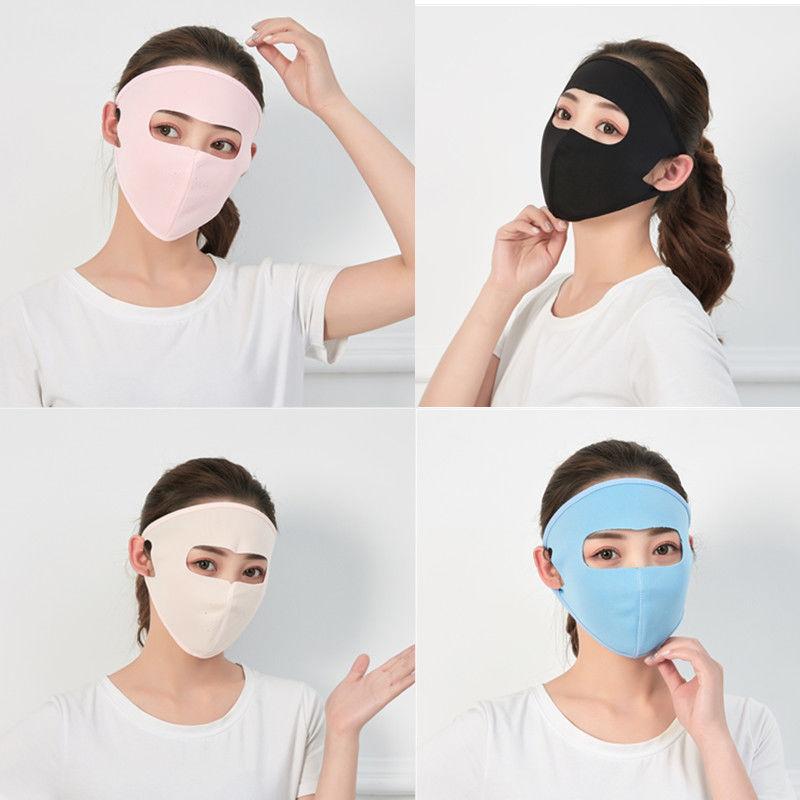 口罩女夏季薄款防紫外线面罩女透气户外旅行全脸遮阳蒙面防晒口罩(非品牌)