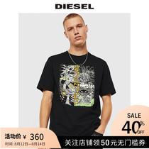 Diesel2020春夏男士圆领休闲印花宽松潮流短袖T恤00SDPA0091A