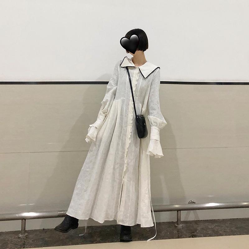 热销189件买三送一十早法国复古裙山本超仙重工连衣裙