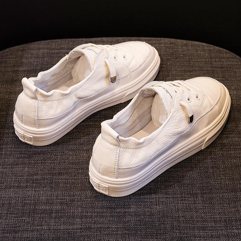 真皮浅口小白鞋夏是真的吗