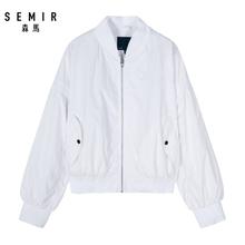 飛行員夾克立領bf風貼布繡上衣外套潮 新款 森馬夾克女2019春季