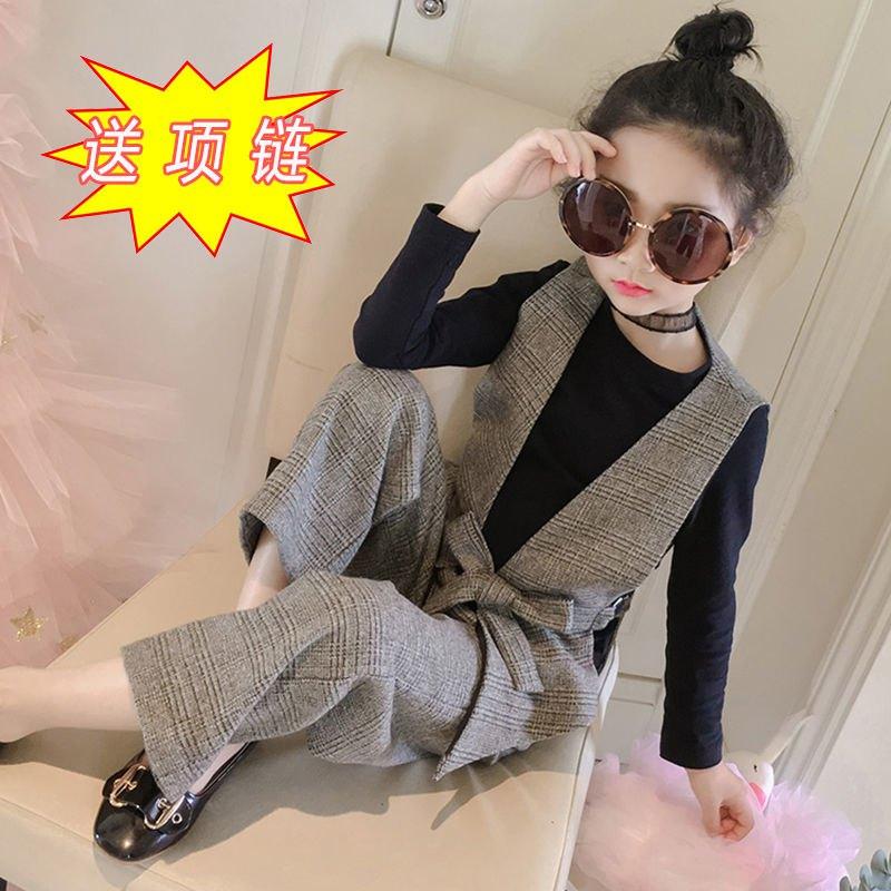 【3件套】女童套装2020春秋新款韩版中大童时尚洋气女孩阔腿裤潮