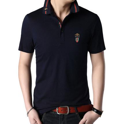 果佰男士短袖T恤2019夏季中青年男士POLO衫韩版半袖丝光棉体恤潮