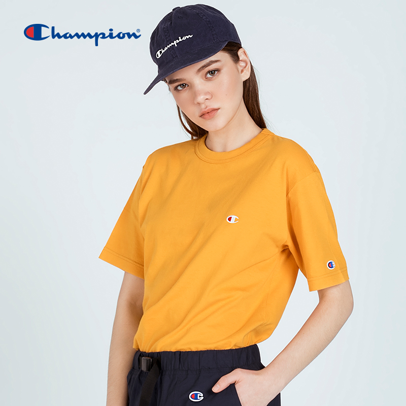 Champion short sleeve T-shirt for women and men basic small C embroidery casual T-shirt for lovers