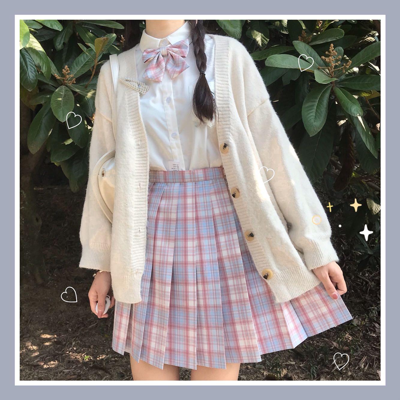 (Deposit) Peach Blossom Drunk Original JK Lattice Skirt 5 Mission