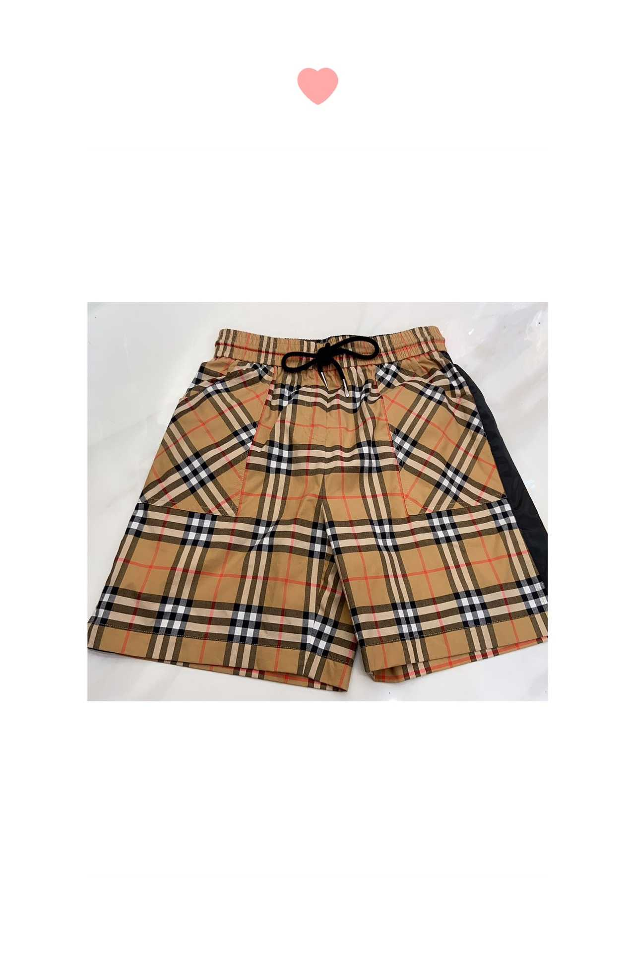 BUS外贸出口高档格子短裤