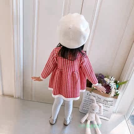 季女童针织裙打底衫1-3岁女宝宝2中长款洋气8个月婴儿0裙秋装毛衣