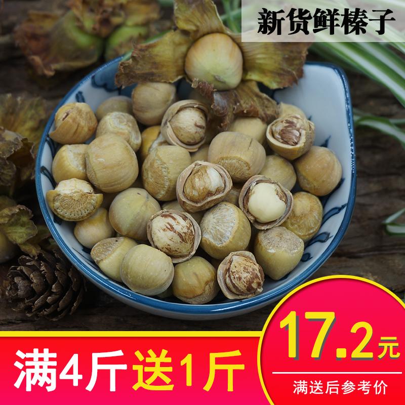 野生新鲜小榛子新货水瓤薄皮铁岭生榛子东北特产坚果零食500g包邮