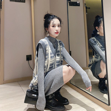 Small fragrant two piece set in early autumn, short, high and fashionable fur dress, 2019 new set for women