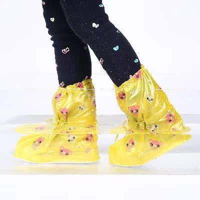 下雨天儿童小孩防雨鞋套 幼儿园防滑加厚耐磨底鞋套 防水防沙鞋套
